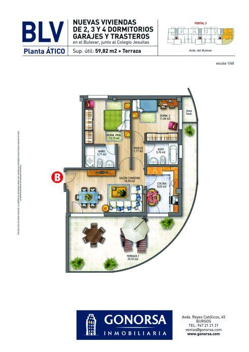 GONORSA Bulevar - Atico B Portal 3